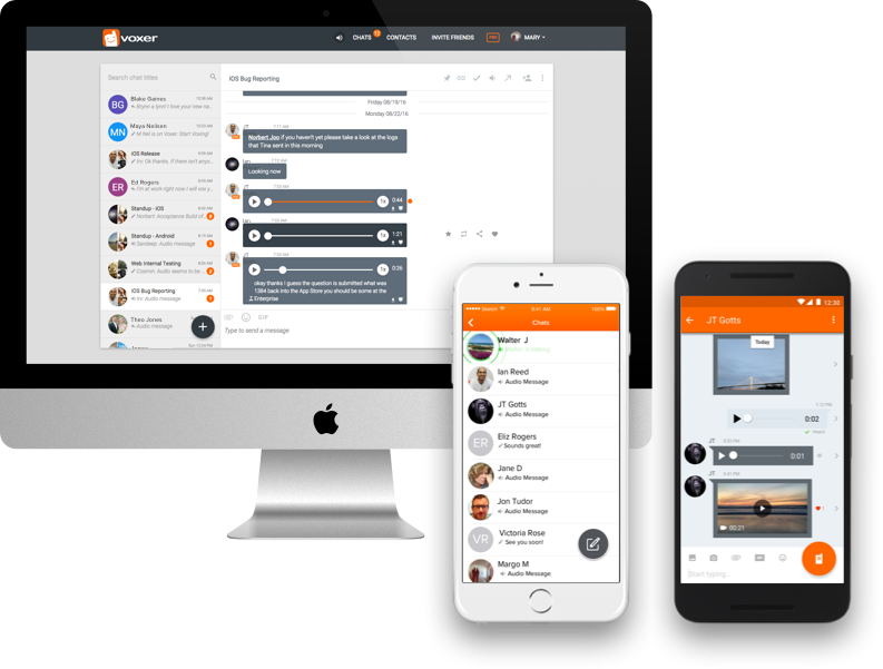 Voxer is available for iPhone, Android, and the web